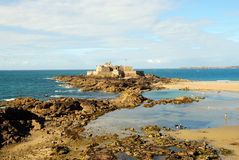 Beach of Saint Malo Royalty Free Stock Images