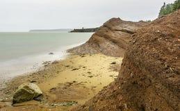 Beach. In Saint Martins New Brunswick Stock Photos
