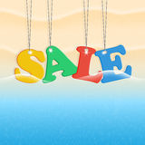 Beach and sale Stock Photography