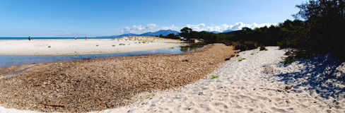 The beach of Saleccia Royalty Free Stock Images