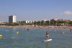 Beach in Salou, Spain Stock Photography