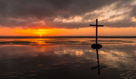 Beach Salvation Cross Royalty Free Stock Images