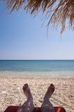 Beach on Samos Stock Photography