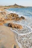 Beach of San Giovanni di Sinis. View of beautiful sardinian beach called San Giovanni of Sinis Stock Photos