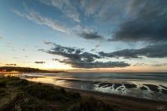 Beach of San Juan in Aviles. With views of Salinas beach. Asturias Stock Photo