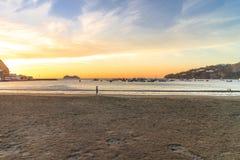 Beach of san juan de sur Royalty Free Stock Images