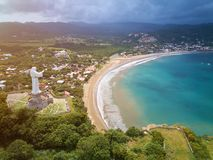 Beach in san Juan Del sur. Aerial drone view Stock Photography