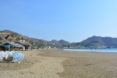 Beach of San Juan del Sur, Nicaragua. San Juan del Sur beach, a very touristical place in Nicarágua Stock Photos