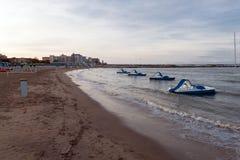 Beach of san mauro sea, Italy Stock Image