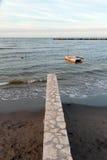 Beach of san mauro sea, Italy Stock Photo