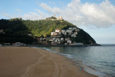 The beach of San Sebastian in Spain Royalty Free Stock Photos