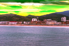 Beach in San Sebastián in Spain Stock Photos