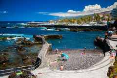 The beach of San Telmo in Puerto de la Cruz Royalty Free Stock Image