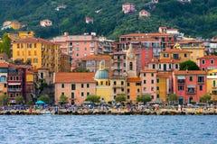 Beach of San Terenzo - Lerici Liguria Italy Royalty Free Stock Photo