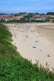 Beach of San Vicente de la Barquera Stock Photos