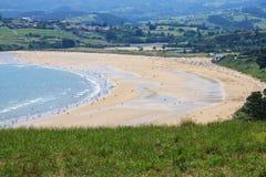 Beach of San Vicente de la Barquera Stock Image