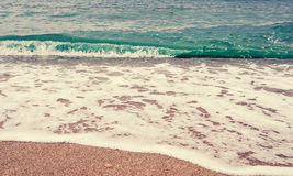 Beach  sand background. Wave and sand border Royalty Free Stock Image
