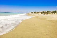 Beach. Sand and blu sky Royalty Free Stock Photo