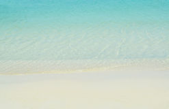 Beach and sand and blue sea water   background Stock Image