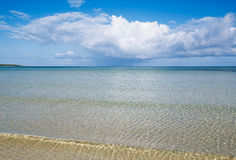 Beach sand, Caribbean sea and sky Stock Photography