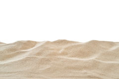 On the Beach - Sand dune in front of a white background - clipping path included Royalty Free Stock Photo