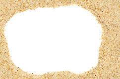 Beach sand frame Royalty Free Stock Photo