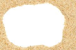 Beach sand frame Royalty Free Stock Photo
