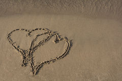 Beach Sand Hearts Royalty Free Stock Photos