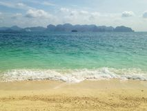 Beach. And sand @ krabi in Thailand Stock Image