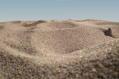 Beach sand. Macro. Stock Images