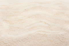 Beach sand with marks of waves. Summer beach background Stock Image