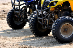 Beach sand motorcycle sport. Motorcycle tyre on beach sand, shown as beach sand sport and entertainment, or featured vehicle Stock Photography