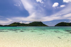 Beach and sand with ocean blue,sky beautiful, Koh Lipe,Thailand. Beach and sand with ocean blue,sky beautiful, Koh Lipe Stock Images