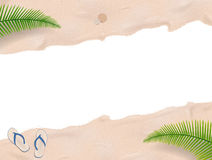 Beach sand with palm trees Royalty Free Stock Photo