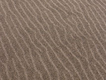 Beach sand pattern. Pattern in the beach sand on the coastline royalty free stock photography