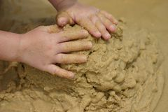 Beach Sand Play Royalty Free Stock Photos