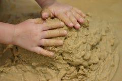 Beach Sand Play Royalty Free Stock Photos