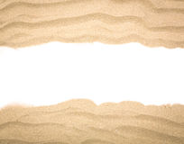 Beach sand scattering isolated. On white background royalty free stock photo