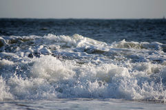 Beach sand sea ocean Sea waves Royalty Free Stock Photo