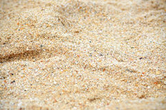 Beach sand. Soft sandy beach sand. Close your eyes and imagine your bare feet running through this fine sand stock photo
