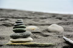 Beach Sand Stones royalty free stock image