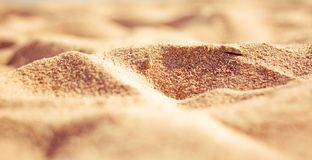 Beach sand in summertime - travel, seascape, vacation and summer holidays concept. Beach sand - travel, seascape, vacation and summer holidays concept royalty free stock photo