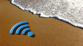 Beach Sand and Technology Day Royalty Free Stock Photo