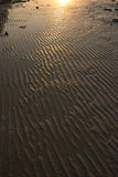 Beach sand texture at sunrise Royalty Free Stock Image
