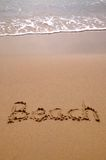 Beach in sand vertical Royalty Free Stock Photography