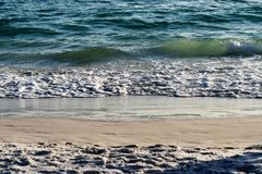 Beach, Sand, Waves Royalty Free Stock Images