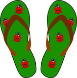 Beach sandals. There are beach sandals. Vector Stock Photo