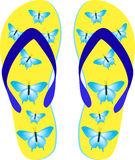 Beach sandals. There are beach sandals. Vector illustration Royalty Free Stock Photos