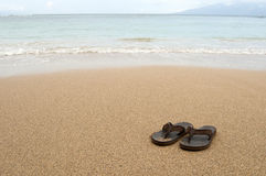 Free Beach Sandals Royalty Free Stock Photo - 18936035