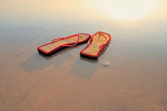 Beach sandals Stock Photography